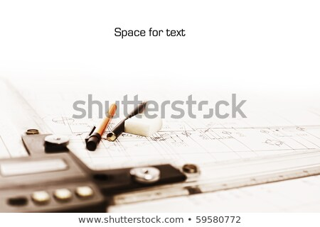 Technical drawing with copyspace Stock photo © lichtmeister