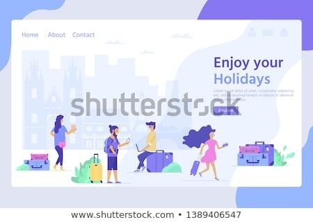Hostel services concept landing page Stock photo © RAStudio