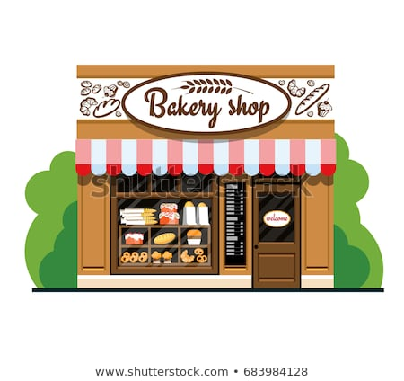 Croissant bakkerij winkel symbool vector zoet voedsel Stockfoto © robuart