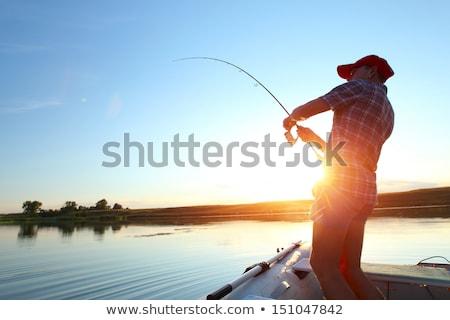 рыбалки человек человека стержень пруд Сток-фото © robuart