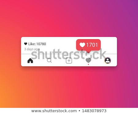 Mass media and social network likes banner template Stock photo © Decorwithme