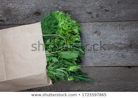 Yeşil soğan pazar taze çiftçiler bahar doğa Stok fotoğraf © vapi