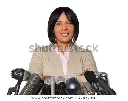 african women politician speaker on the podium Stock photo © rogistok