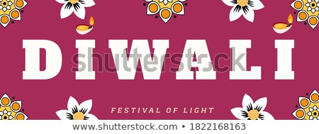 decorative diwali festival sale banner in orange style Stock photo © SArts