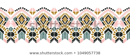 Tribal aztec background. Geometric Seamless ethnic pattern Stock photo © Margolana