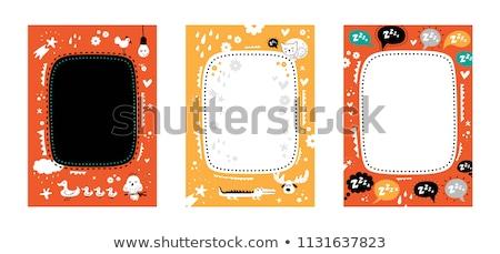 Memorándum nota pato ilustración fondo marco Foto stock © bluering