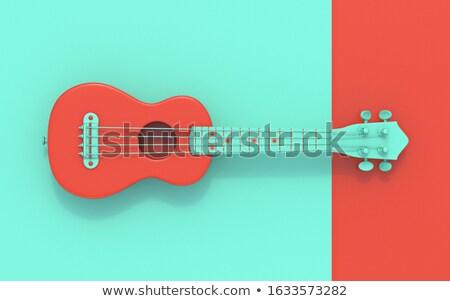 Green red soprano ukulele Top view 3D Stock photo © djmilic
