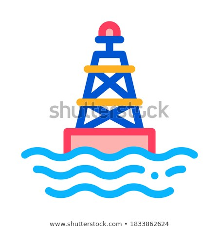 Sea Light Buoy Icon Vector Outline Illustration Stock photo © pikepicture