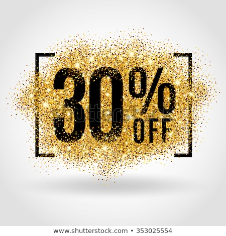 30 por cento desconto cartão de presente certidão compras Foto stock © robuart