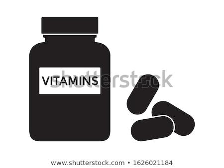 Recept drugs icon vector dun Stockfoto © pikepicture