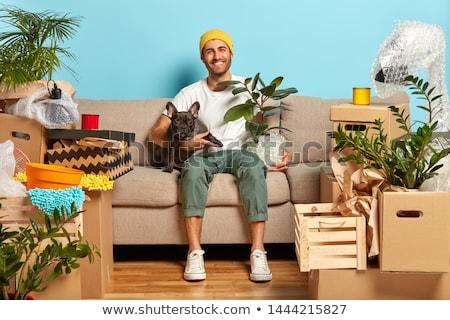 Bérlés lakás szoba férfi szállás nő Stock fotó © jossdiim