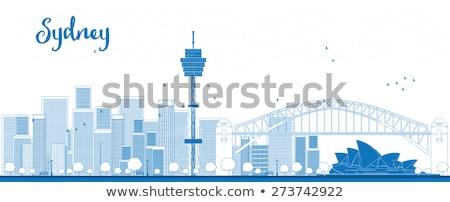 Schets Sydney wolkenkrabbers exemplaar ruimte business Stockfoto © ShustrikS