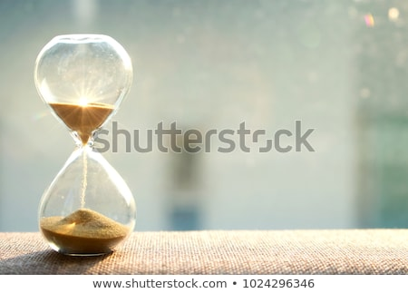 time management with hourglass Stock photo © -TAlex-