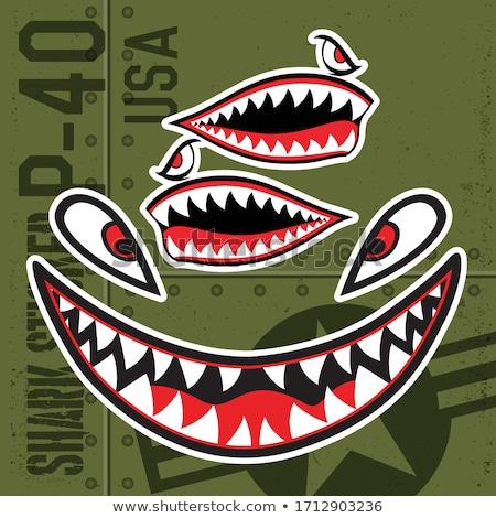 улыбаясь акула Cartoon иллюстрация зеленый морем Сток-фото © bennerdesign