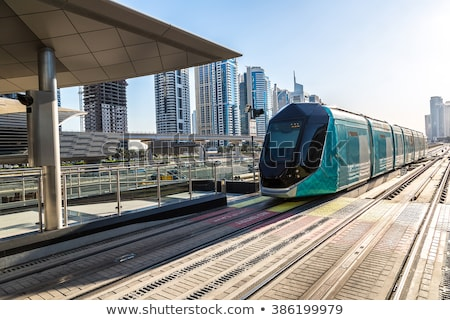 New modern tram in Dubai Stock photo © bloodua