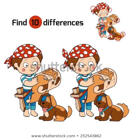Diferencias juego color libro página Foto stock © izakowski