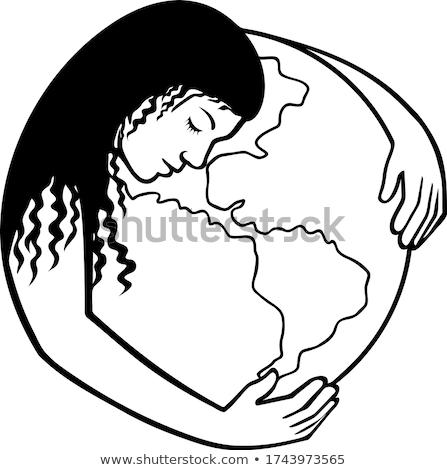 Madre tierra mundo mundo retro Foto stock © patrimonio