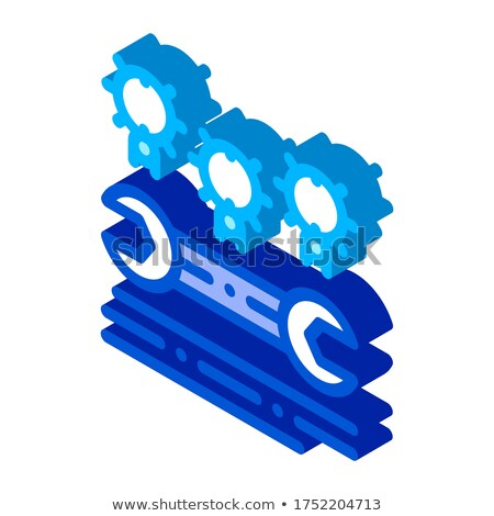 Bug kever codering isometrische icon vector Stockfoto © pikepicture