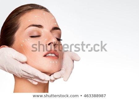 ritratto · trattamento · termale · faccia · massaggio - foto d'archivio © iko