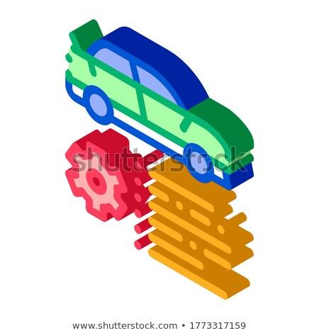 автомобилей особенность Gear изометрический икона вектора Сток-фото © pikepicture