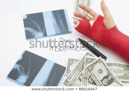 Bras argent stylo médecine espace de copie main Photo stock © KonArt