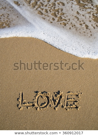 love written in the sand on a sunny day stock photo © frankljr