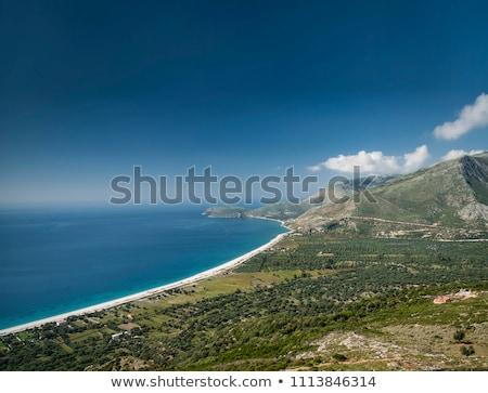 sul · Albânia · praia · montanhas - foto stock © travelphotography