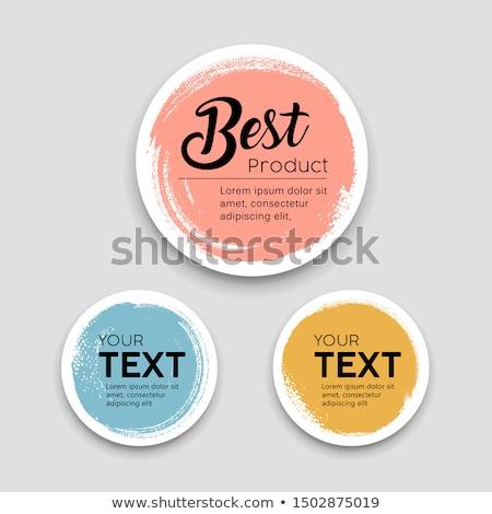 Stock photo: Orange sticker on a grunge background