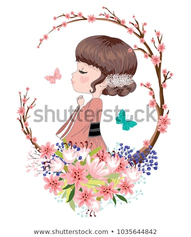 beautiful girl and butterfly stock photo © zastavkin