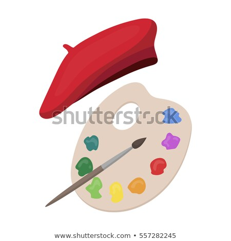The Artist with Beret and Brushes stock photo © bryndin