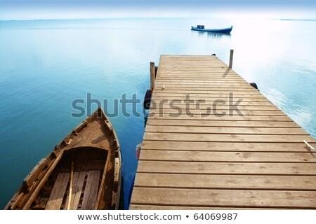 Wetland lake and wooden pier Stock photo © kawing921