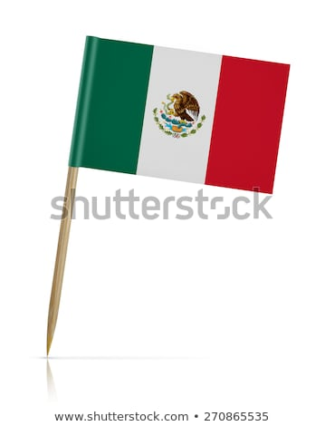 Miniatuur vlag Mexico geïsoleerd Stockfoto © bosphorus