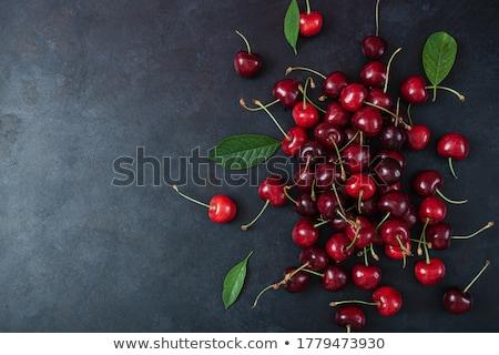 hoop · kers · blad · zomer · vruchten · mand - stockfoto © M-studio