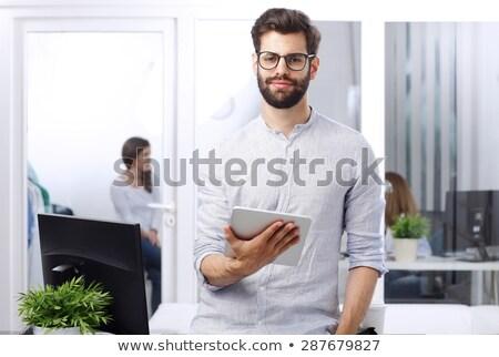 Jóvenes empresario trabajo traje Foto stock © photography33