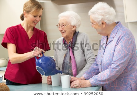 Help senior in the kitchen Stock photo © photography33