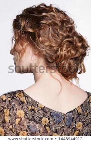 背面図 · スタイリッシュ · 白人 · 女性 · 孤立した - ストックフォト © stockyimages
