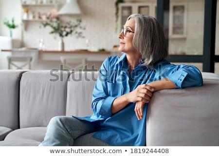 Calma aposentadoria homem relaxar pessoa estilo de vida Foto stock © njaj