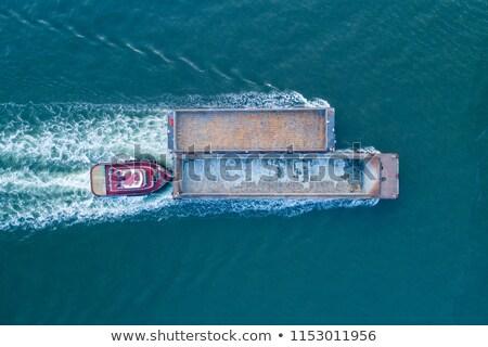 Coal Barge Retro Stock photo © lisafx