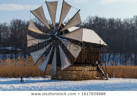 windmills in romania stock photo © prill