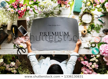 Florist showing poster Stock photo © photography33
