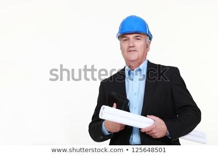 Mühendis planı gündem Bina adam Stok fotoğraf © photography33