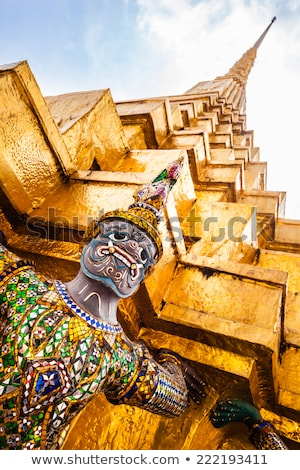 buddhist temple in grand palace bangkok thailand asia detail Stock photo © travelphotography