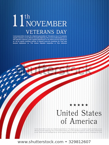 cover for brochure with usa image american flag and freedom mo stock photo © leonido
