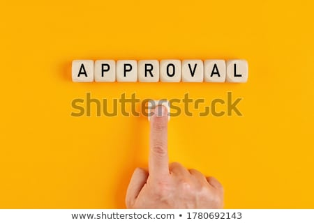 hand push approve button stock photo © pinkblue