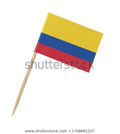 Minyatür bayrak Kolombiya yalıtılmış toplantı Stok fotoğraf © bosphorus