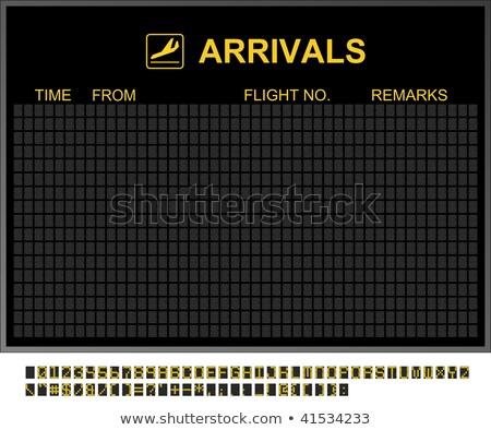 empty international airport arrivals board stock photo © nmcandre