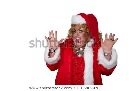 Christmas mooie disco diva vakantie illustratie Stockfoto © smeagorl