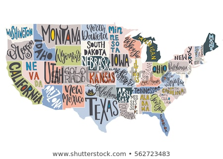 Map of Alabama (United States) stock photo © Schwabenblitz