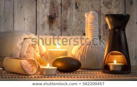 Wellness brandend kaarsen honing massage studio Stockfoto © tannjuska