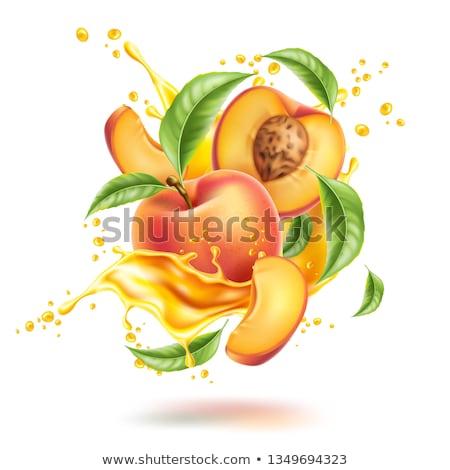 персика сока продовольствие лист фрукты зеленый Сток-фото © Masha